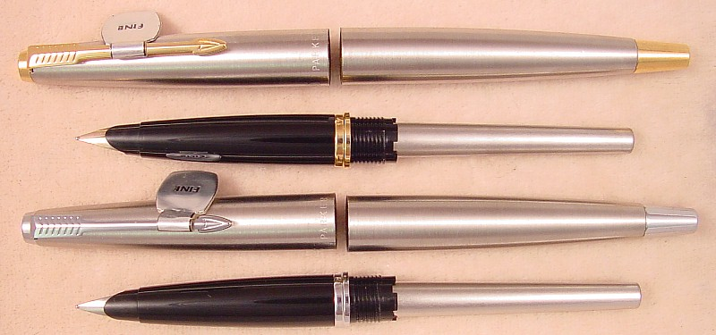 Sheaffer Lifetime Black & Pearl Midget Balance Pen, c1935, 4 1/8 inches  closed, ringtop model, gold filled trim, cap band beautifully engraved, ...
